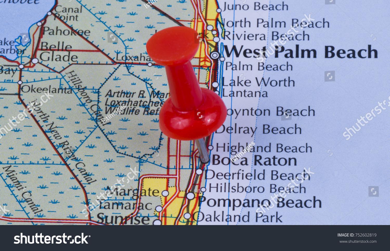 Map Of Boca Raton Florida.Boca Raton Florida Palm Beach County Stock Photo Edit Now