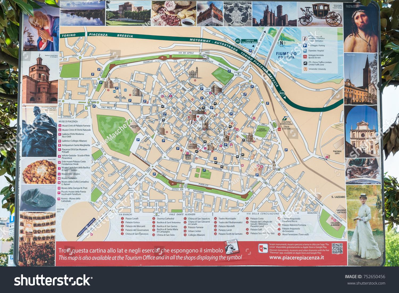 Piacenza Italy April 20 2017 Tourist Stock Photo Royalty Free