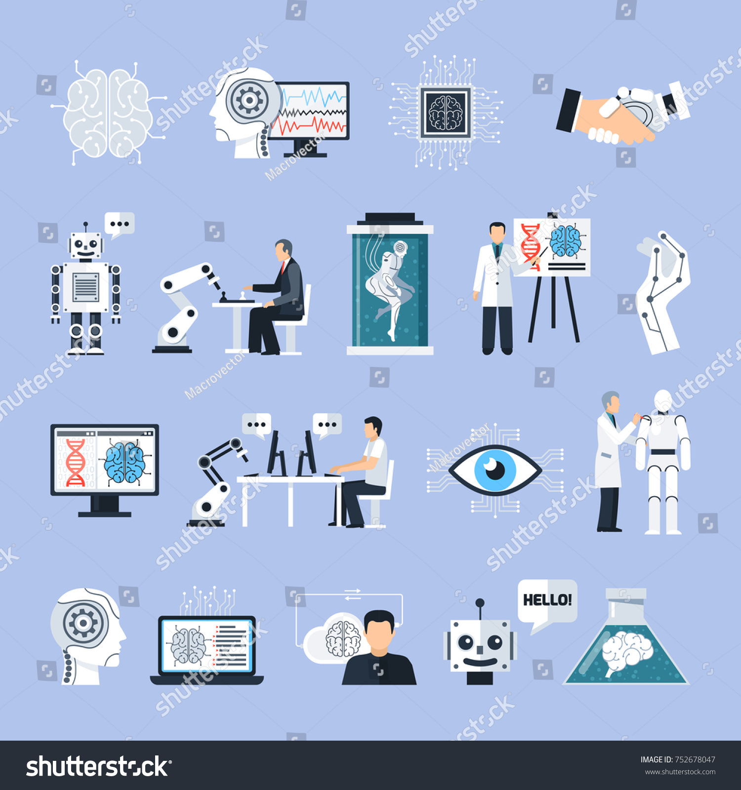 Touch bionics stock symbol gallery symbol and sign ideas artificial intelligence icons set technology symbols stock artificial intelligence icons set with technology symbols flat isolated buycottarizona Choice Image