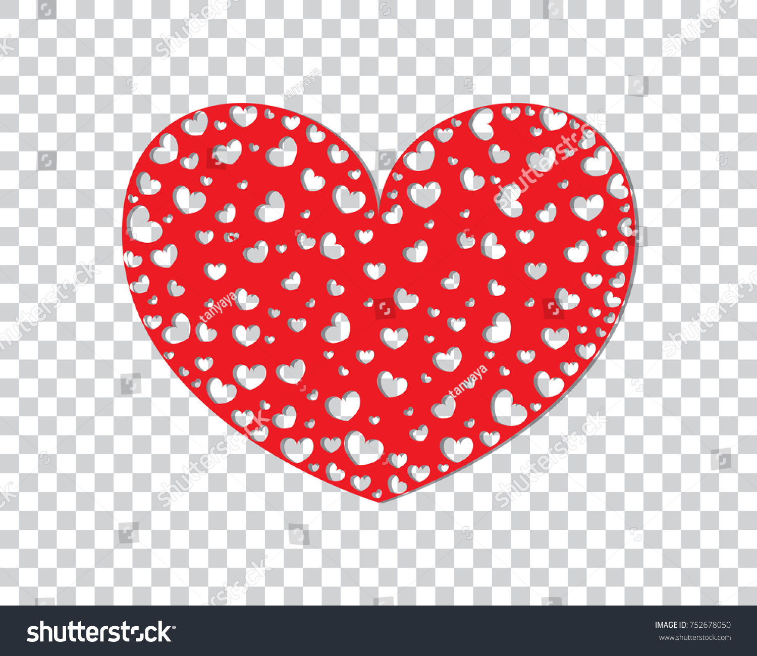 Celebratory Background Red Pink Hearts On Stock Vector Royalty Free