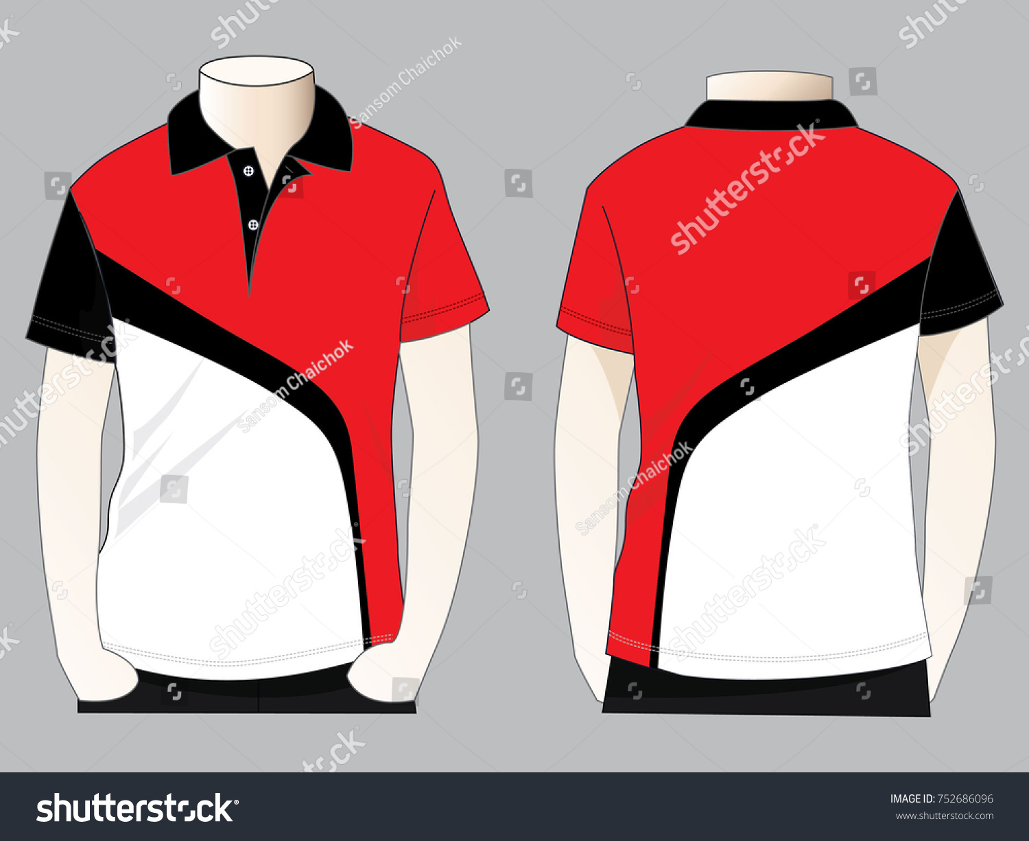 Sport Polo Shirt Design Stock Vector Royalty Free 752686096