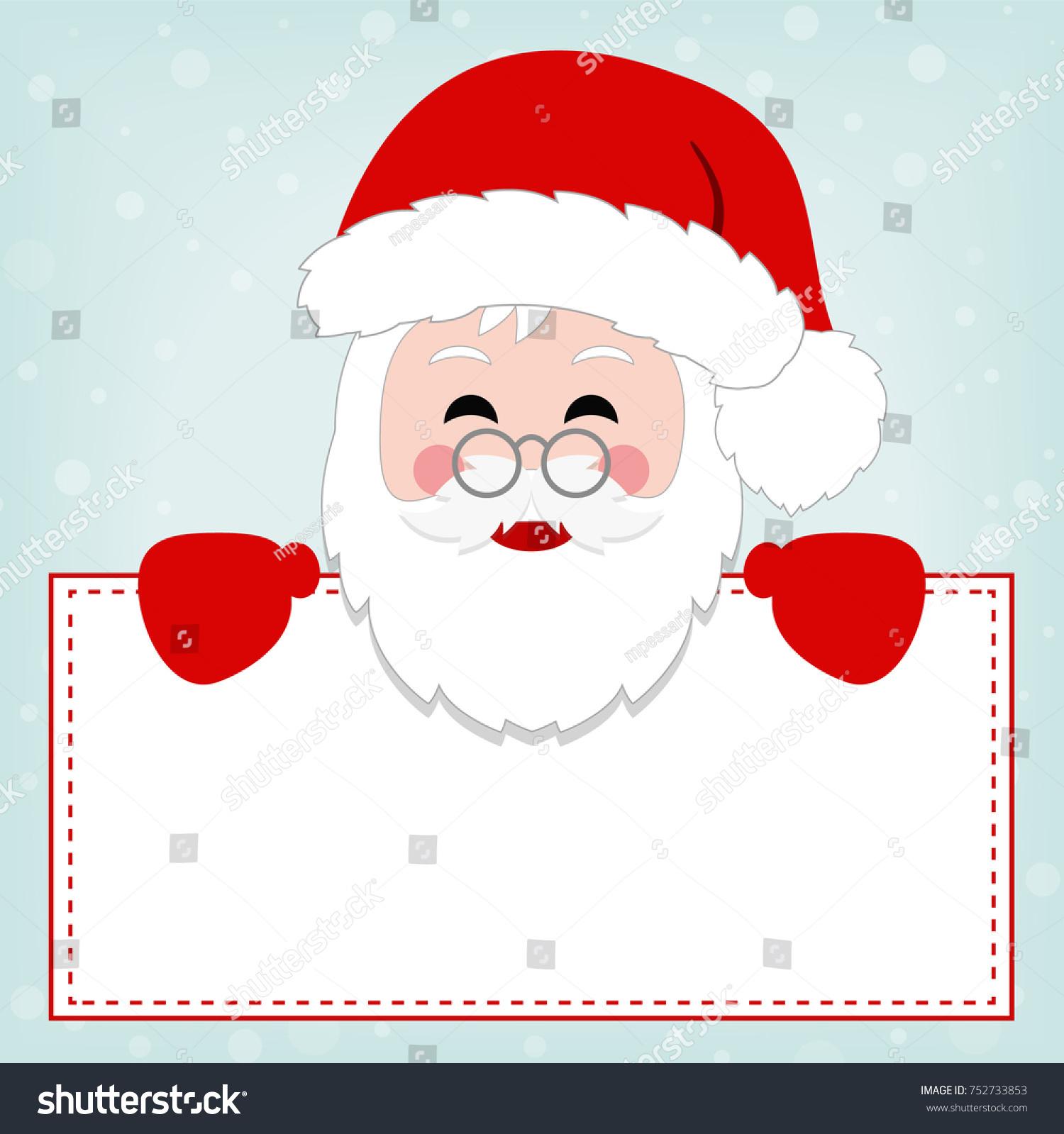 Simple Illustration Santa Claus Greeting Card Stock Vector 752733853