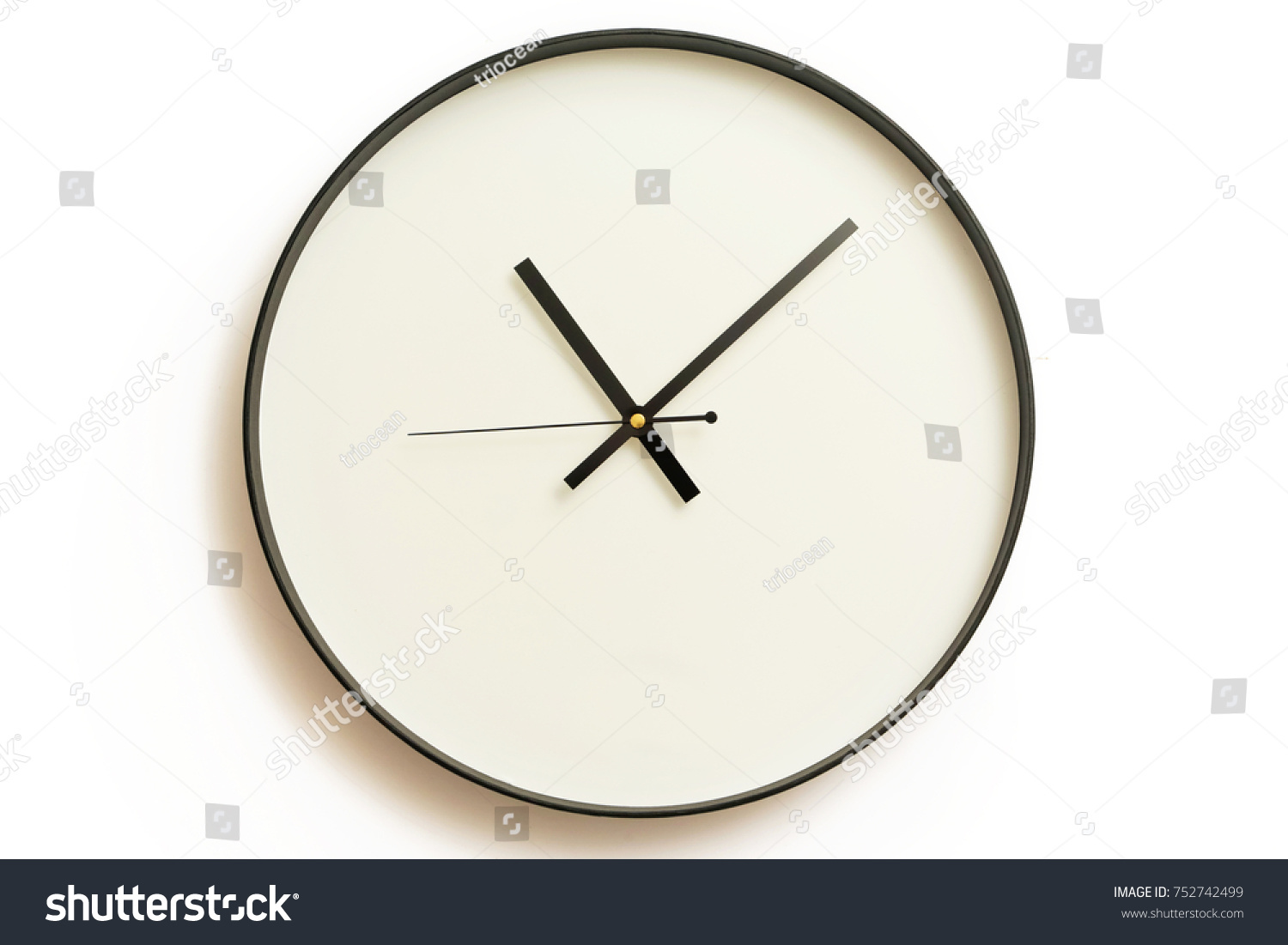Classic design wall clock stock photo 752742499 shutterstock classic design wall clock ccuart Choice Image