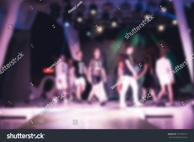 Blurred For Background Ibiza Club Fashion Show Nightclub Show