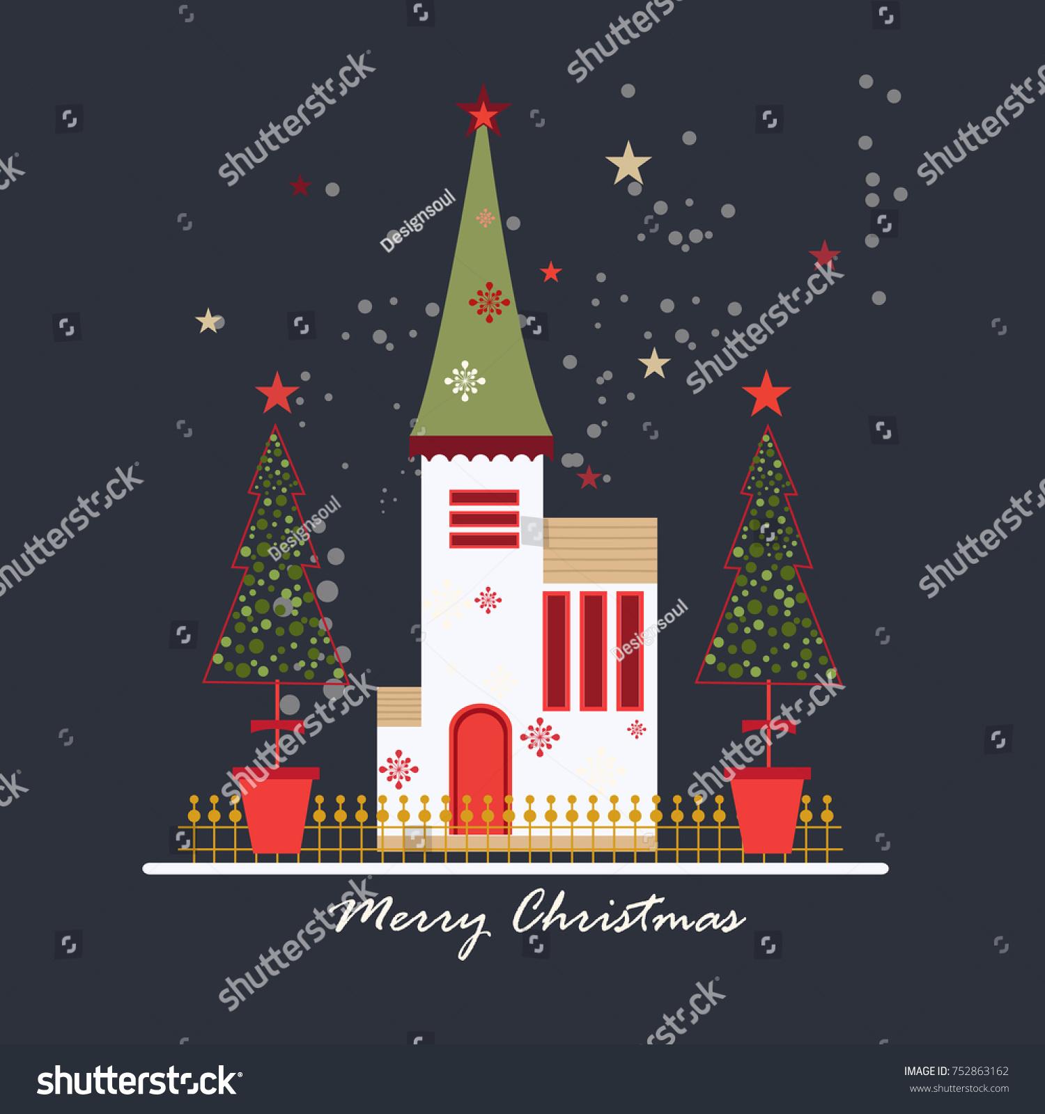 Christmas Day Christmas Day Anniversary Birth Jesus Stock Vector ...
