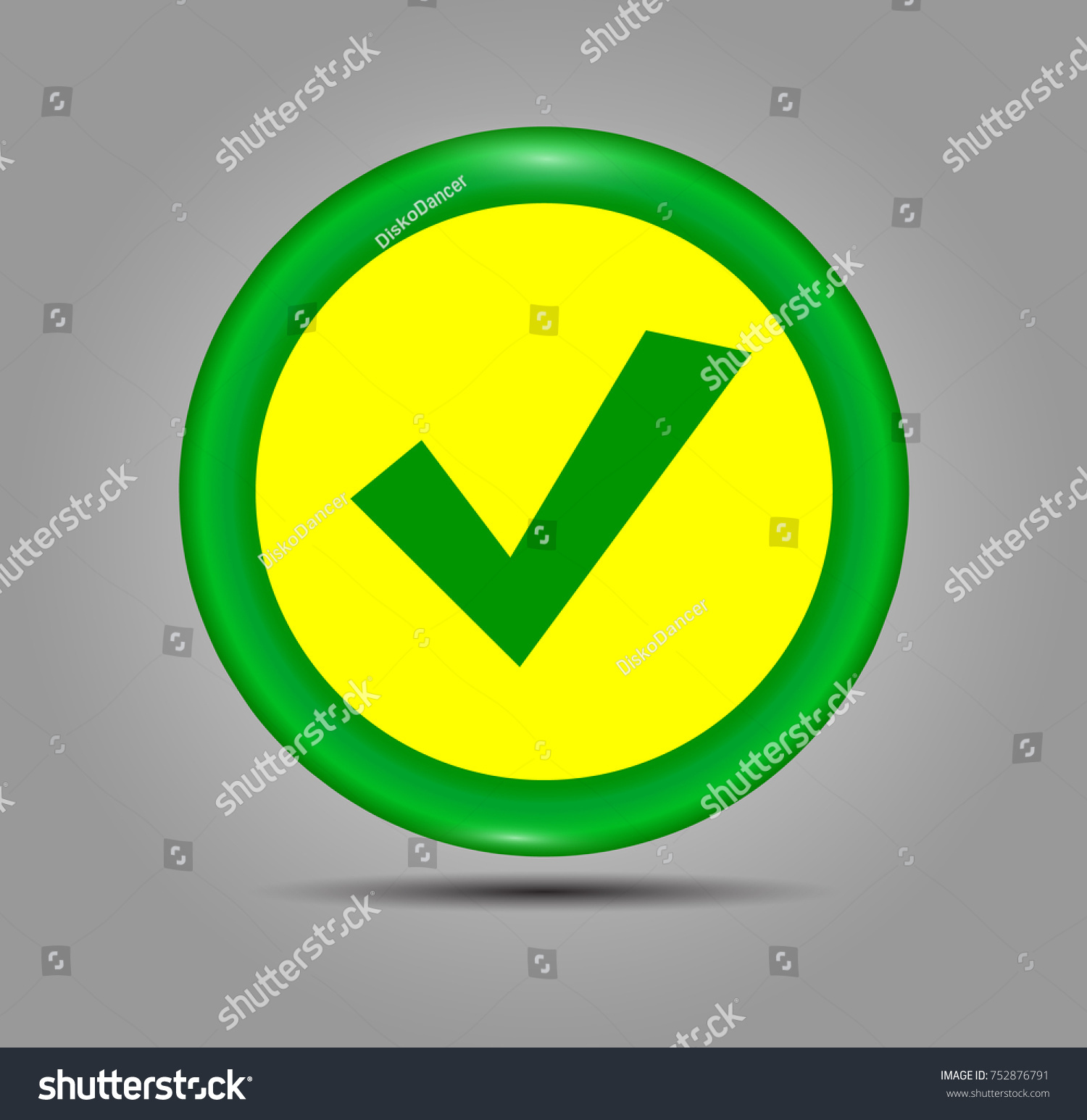 Green check mark icon circle tick stock vector 752876791 shutterstock green check mark icon in a circle tick symbol in green color vector illustration biocorpaavc Image collections