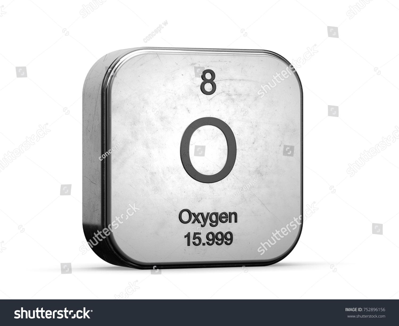 Oxygen element periodic table metallic icon stock illustration oxygen element from the periodic table metallic icon 3d rendered on white background buycottarizona Choice Image