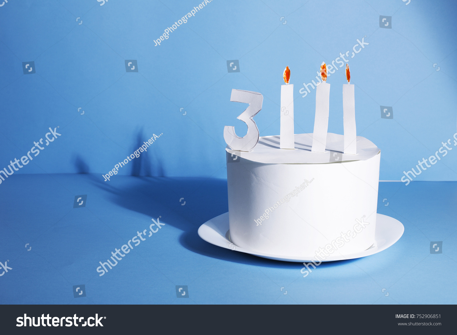 Funny Birthday Cake Entirely Made Paper Stock Photo 100 Legal