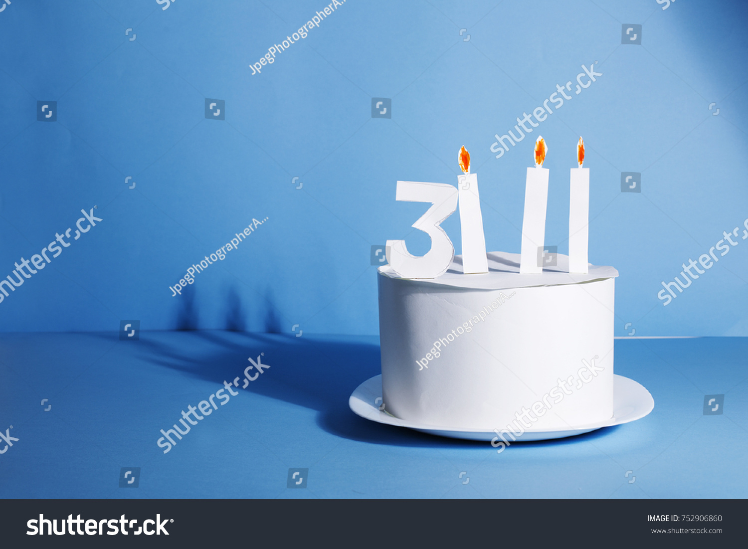 Funny Birthday Cake Made White Paper Stock Photo Edit Now