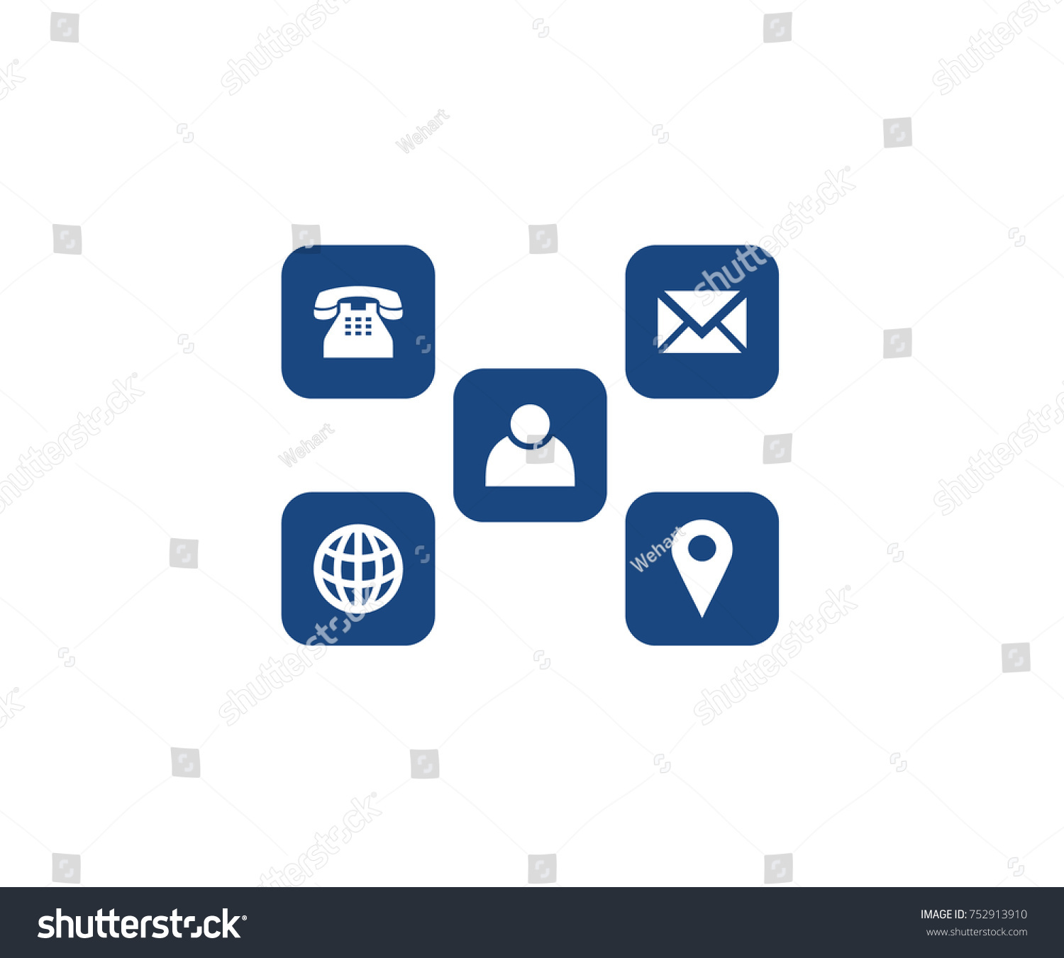 Symbols Name Card Stock Vector 752913910 Shutterstock