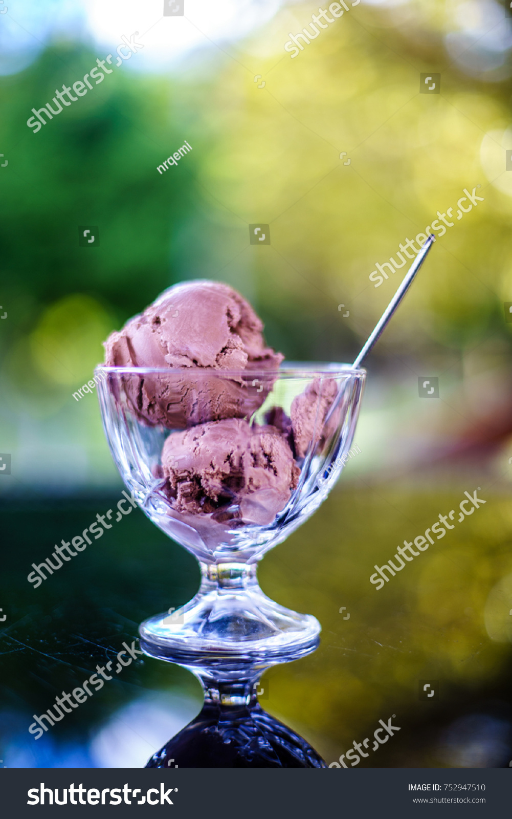 Chocolate Ice Cream Cup Beautiful Reflection Stock Photo Edit Now