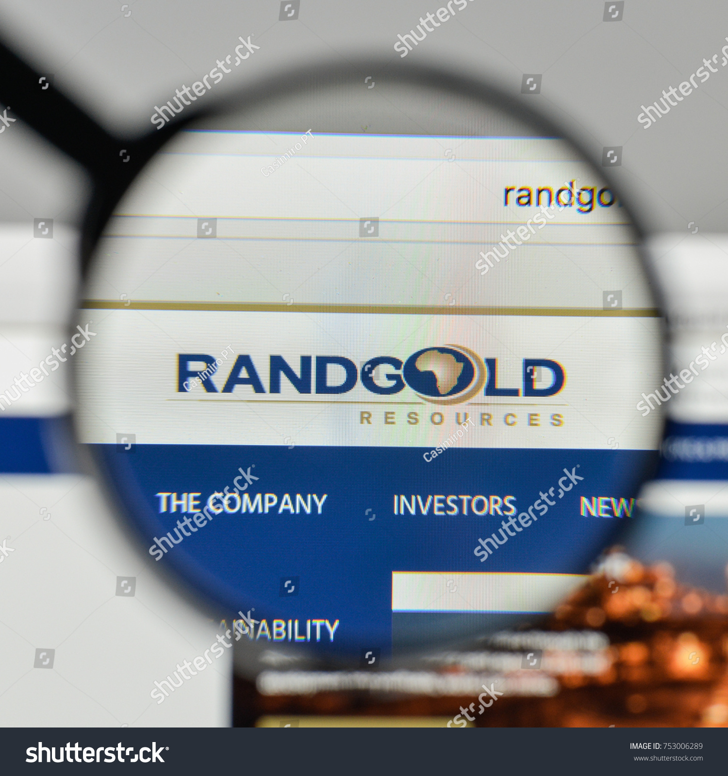 Milan italy november 1 2017 randgold stock photo 753006289 milan italy november 1 2017 randgold resources logo on the website homepage buycottarizona