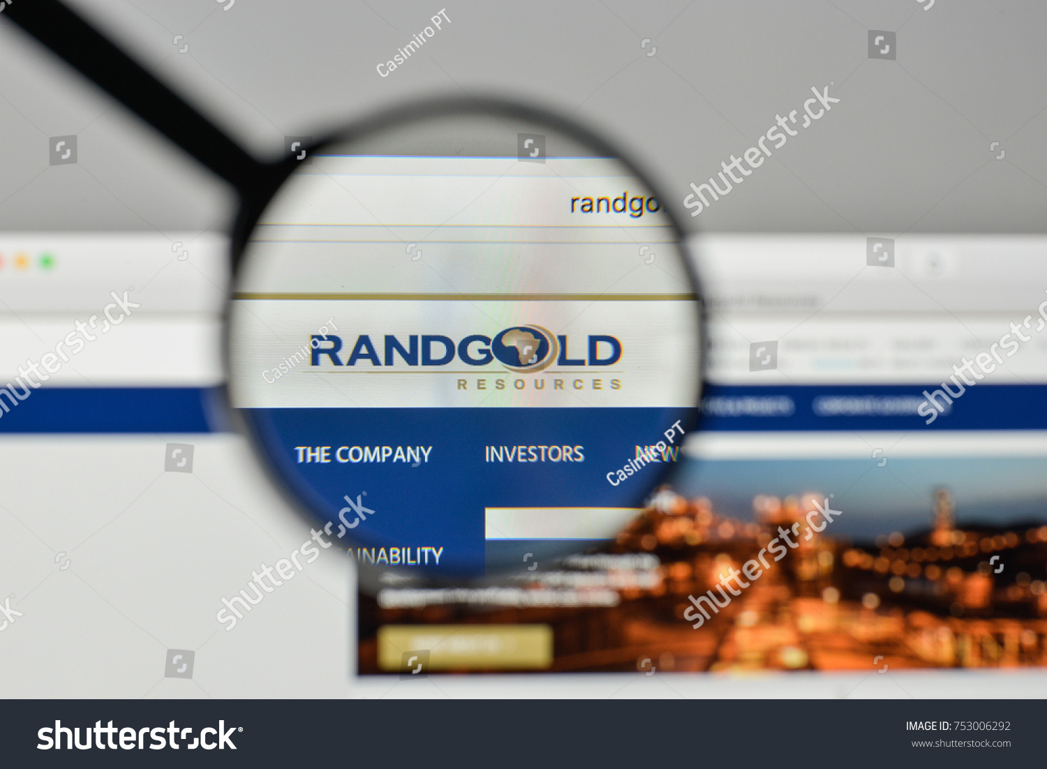 Milan italy november 1 2017 randgold stock photo 753006292 milan italy november 1 2017 randgold resources logo on the website homepage buycottarizona