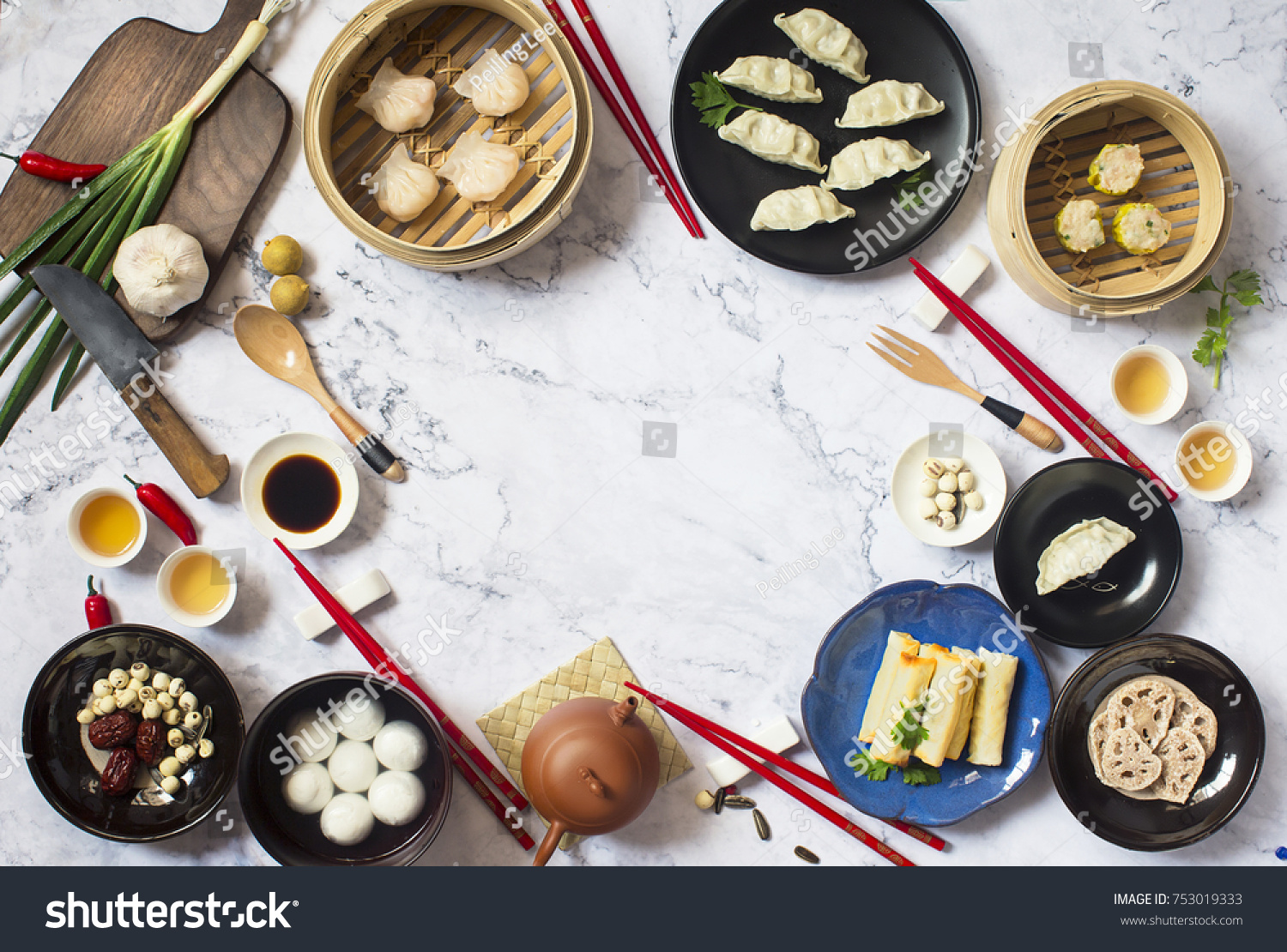 Chinese new year reunion dinner food stock photo royalty free chinese new year reunion dinner food and drink marble table top translation of text forumfinder Gallery