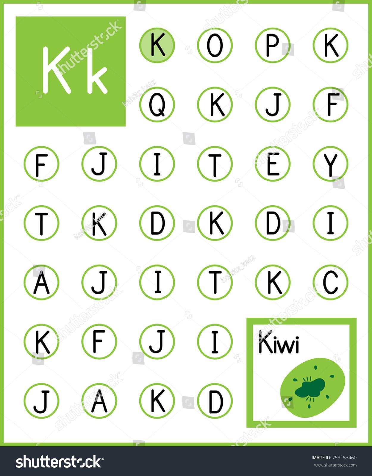 Worksheet Alphabet Activity Pre Schoolers Kindergarten Stock Photo ...