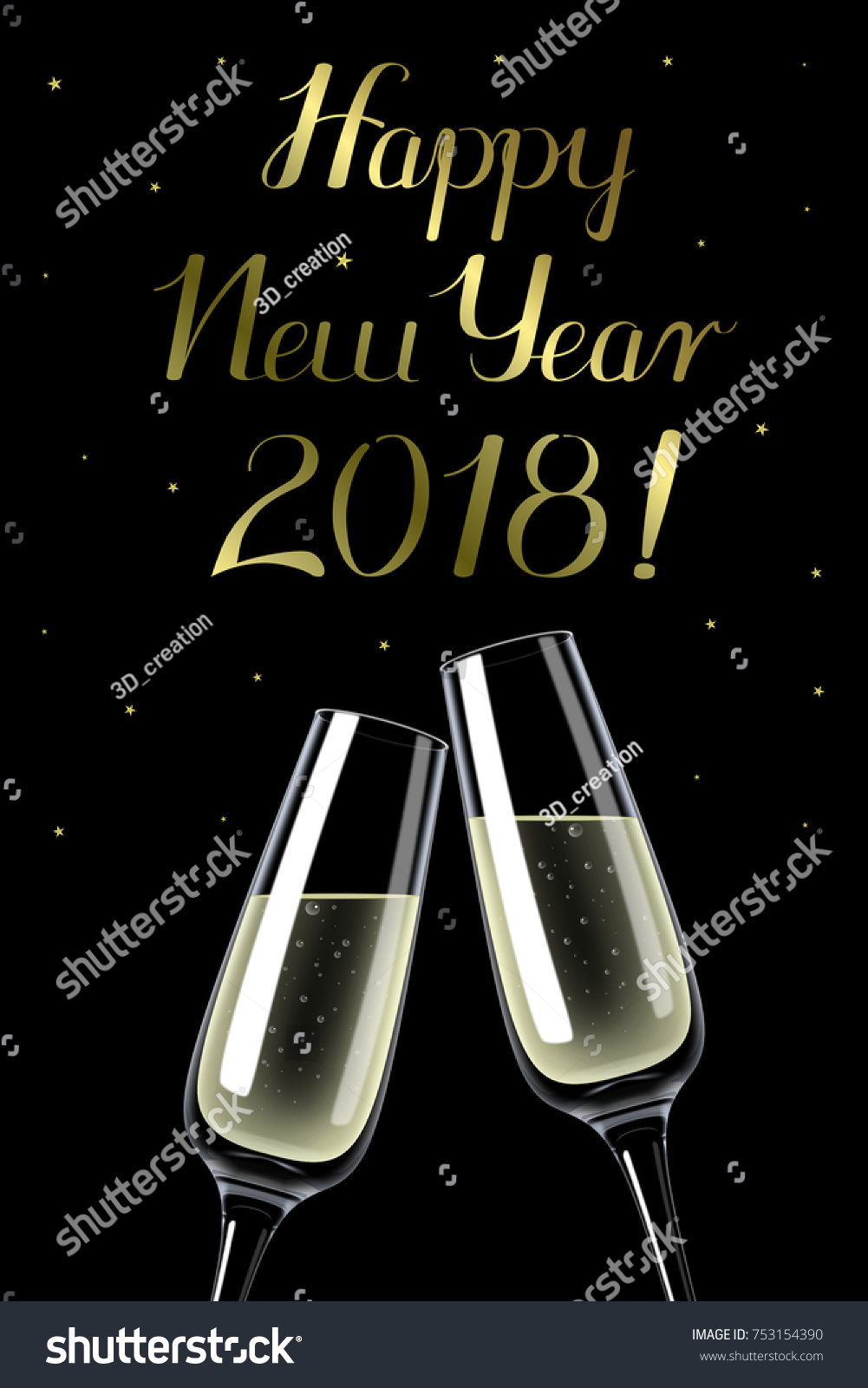 3d illustration 3d rendering happy new year 2018 illustration