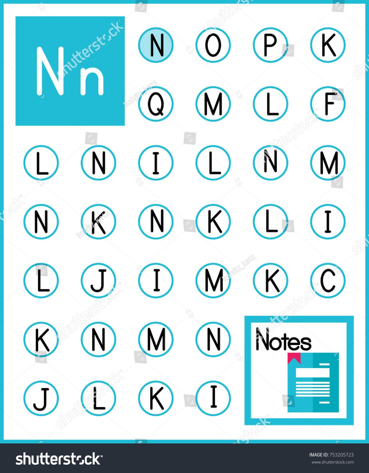Worksheet Alphabet Activity Pre Schoolers Kindergarten Stock Vector ...