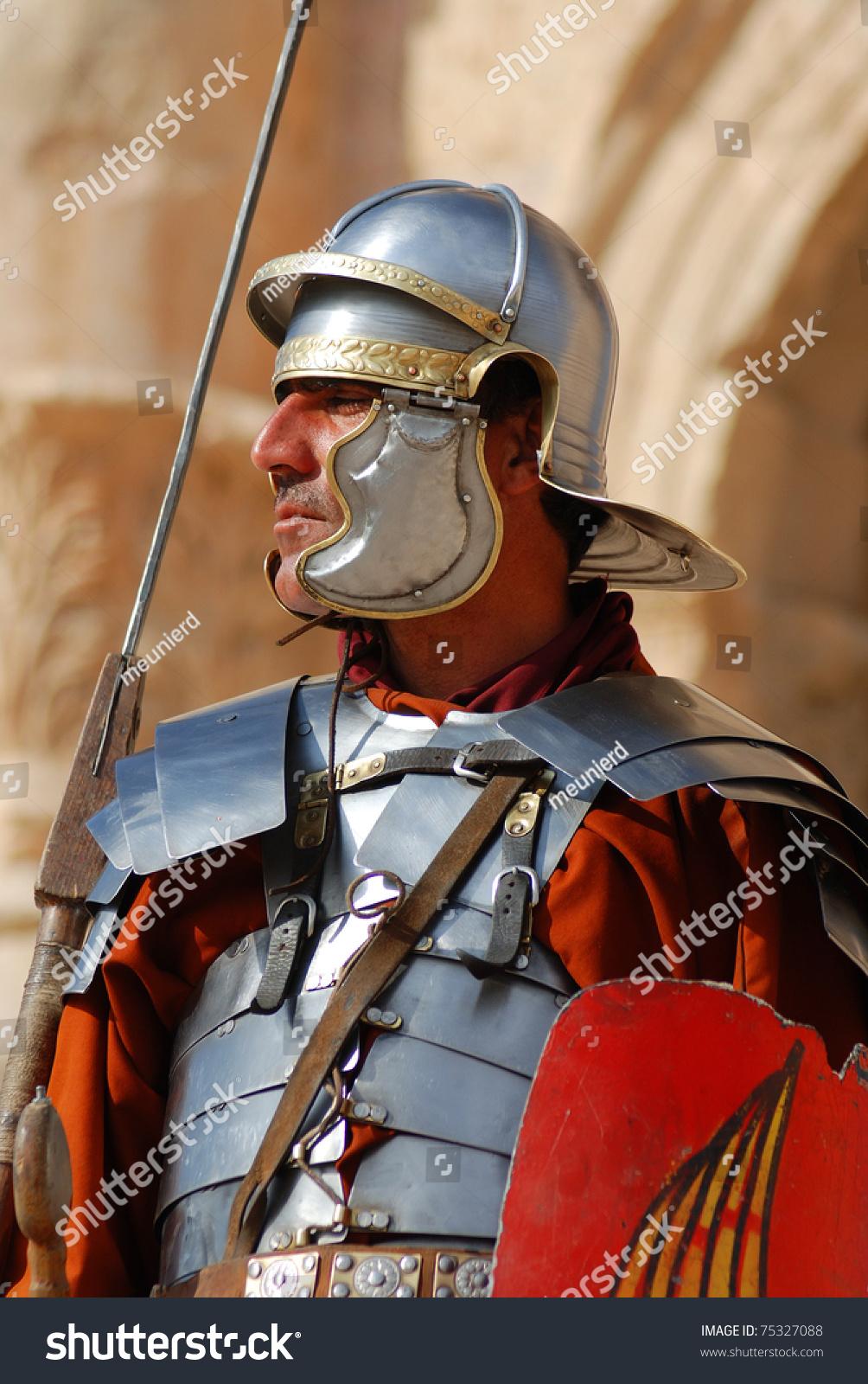 Jerash - November 25: Jordanian Man Dressed As Roman ...