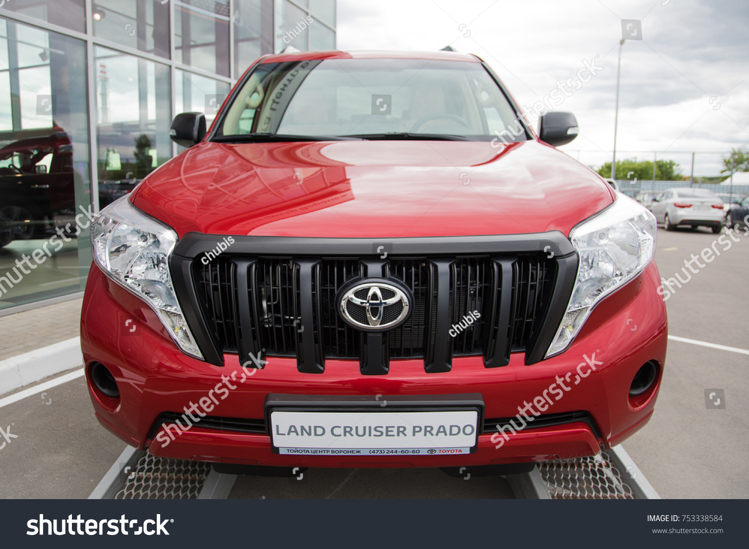 Voronezh Russia May 28 2017 Example Stock Photo Edit Now 753338584 Toyota Land Cruiser Prado Suv Car Of New Captured