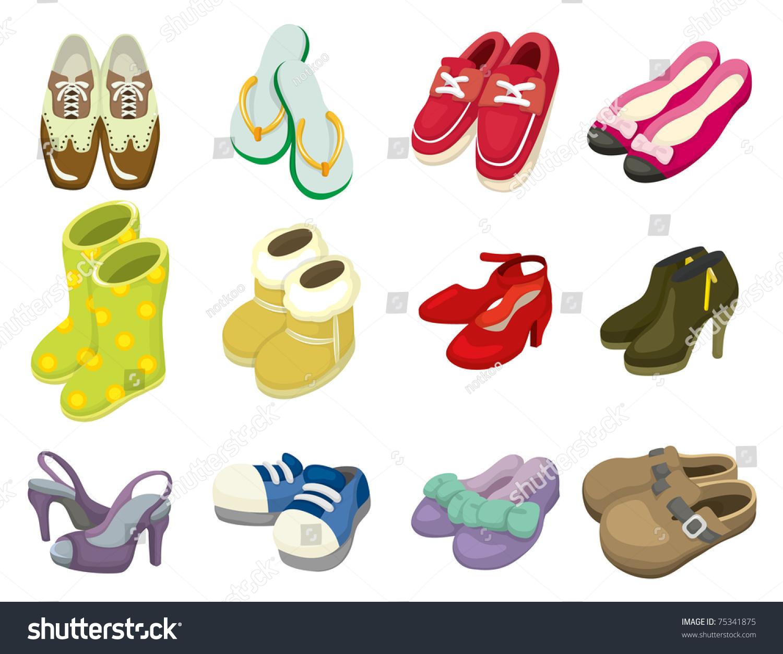 Cartoon Shoes Icon Stock Vector 75341875