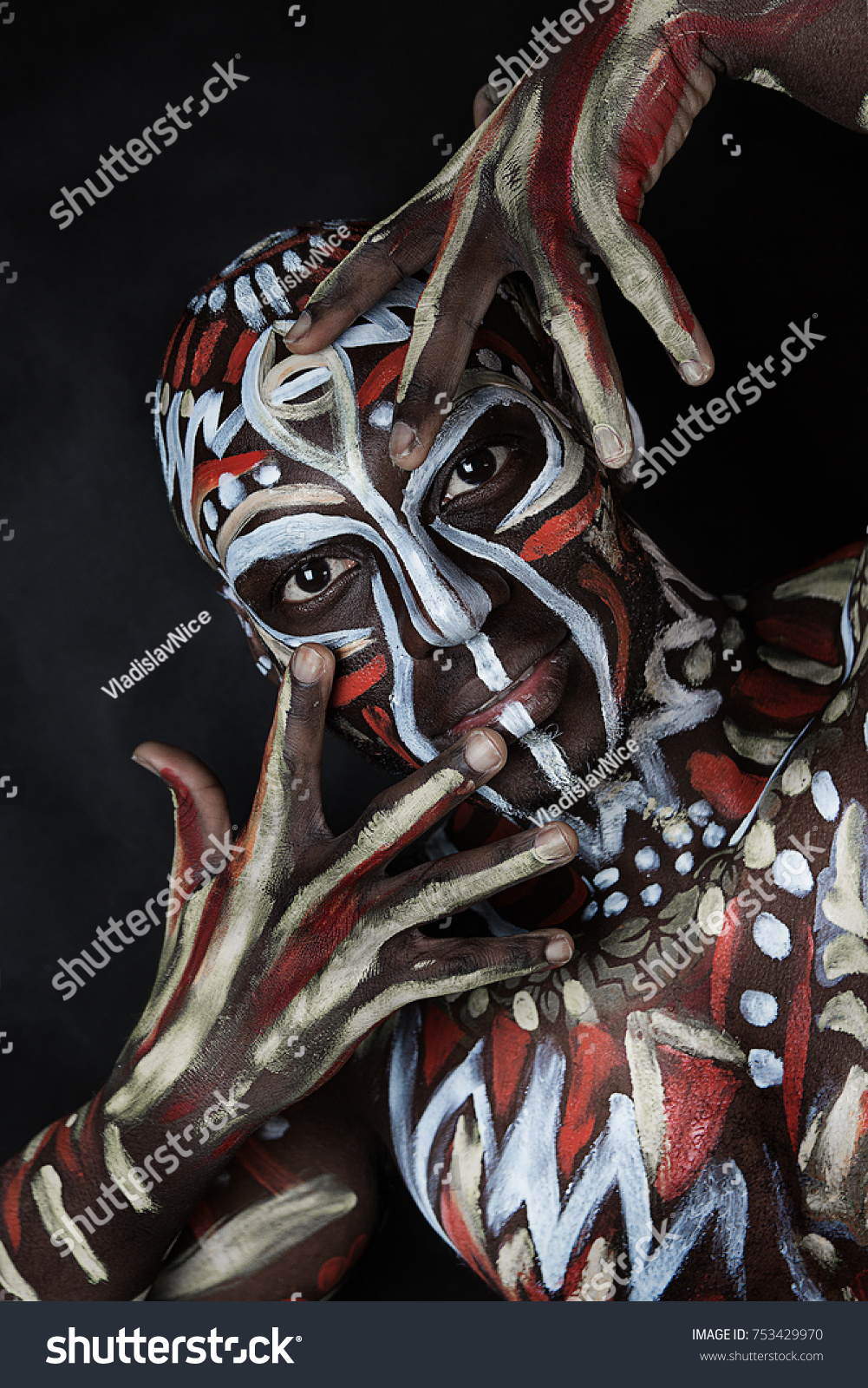 Strong Dancer Africanamerican Man Ethnic African People Stock Image 753429970
