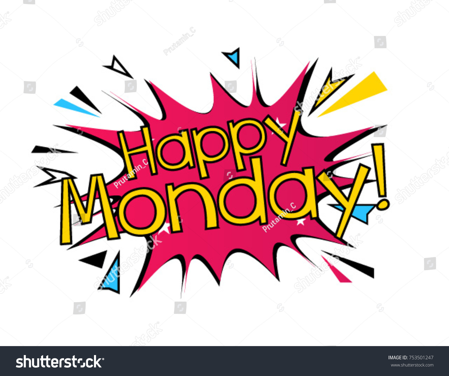 Happy monday beautiful greeting card poster stock vector 753501247 happy monday beautiful greeting card poster m4hsunfo Image collections
