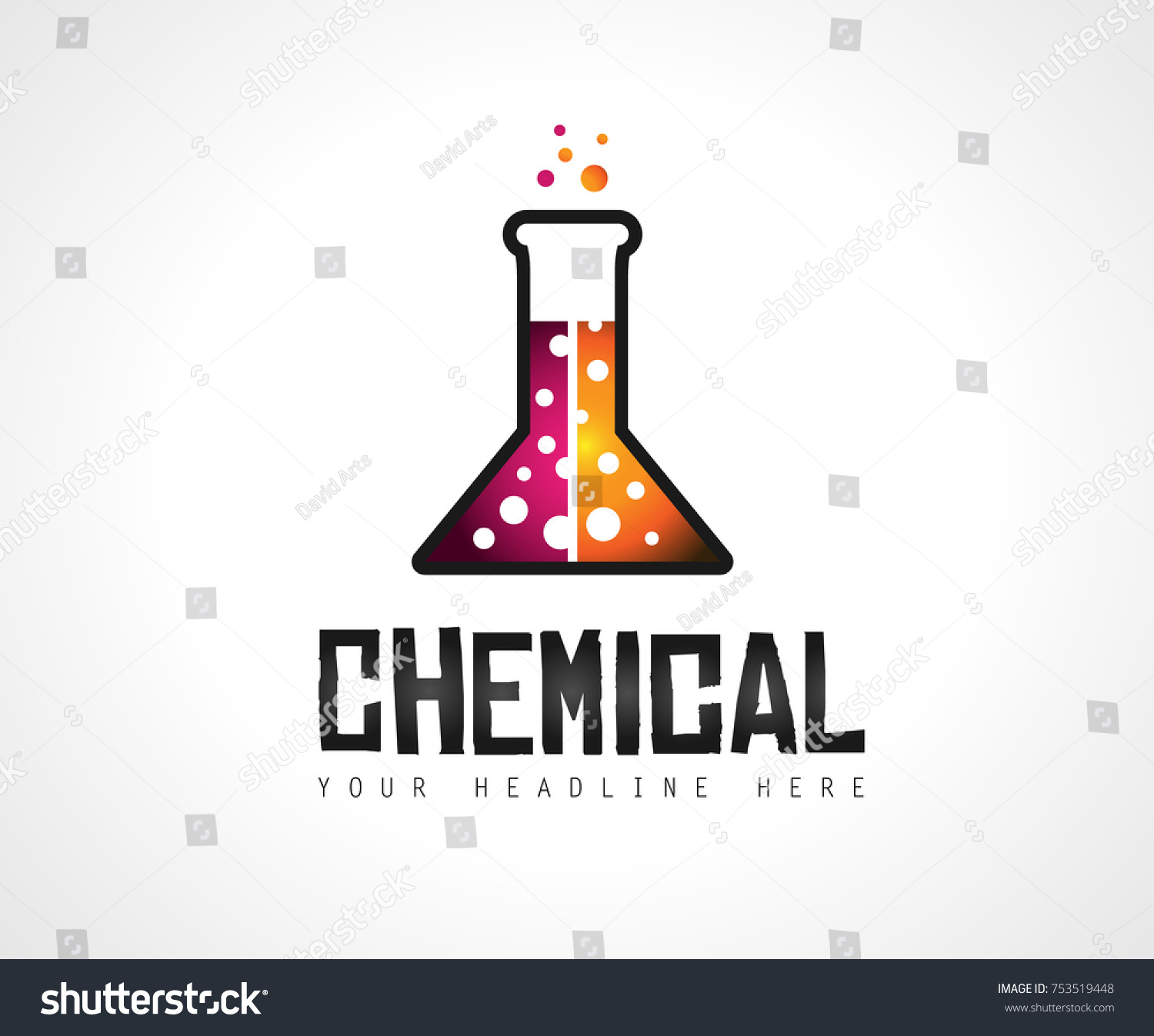 Creative Chemical Colorful Logo Design Brand Stock Vector 753519448