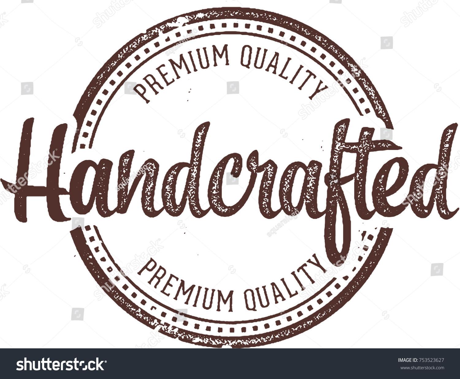 handcrafted product stamp label stock vector royalty free