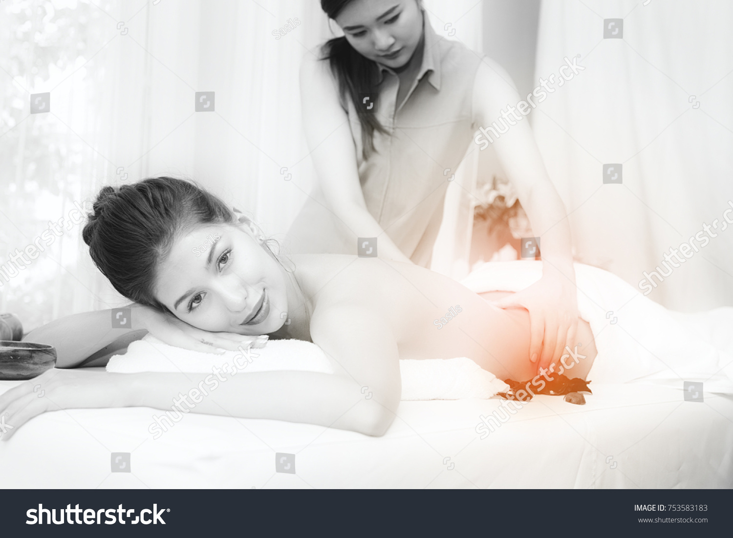 Asian Man Massage White Girl