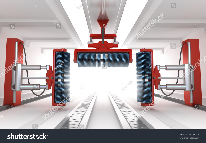 car wash service empty interior stock illustration 75361726 shutterstock. Black Bedroom Furniture Sets. Home Design Ideas