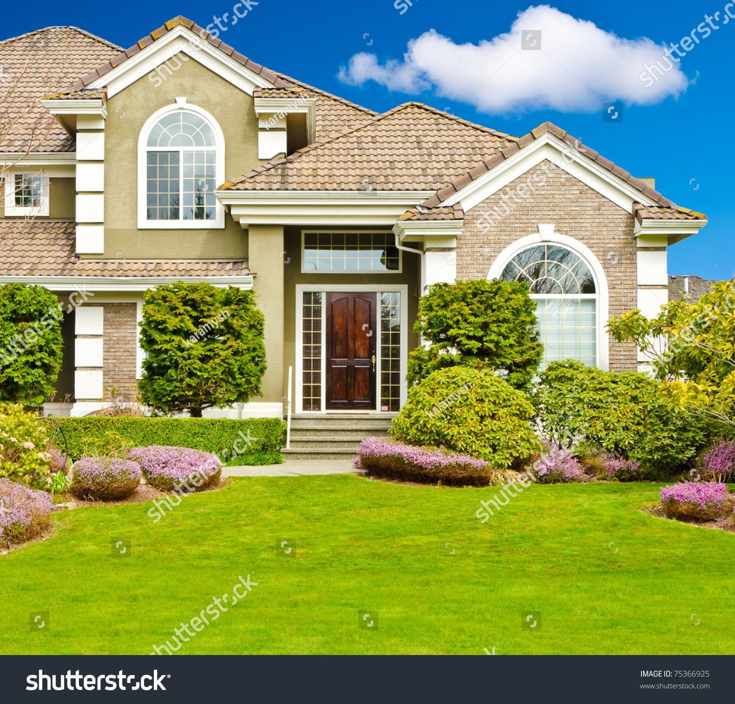 Fragment nice house stock photo 75366925 shutterstock for Nice house picture