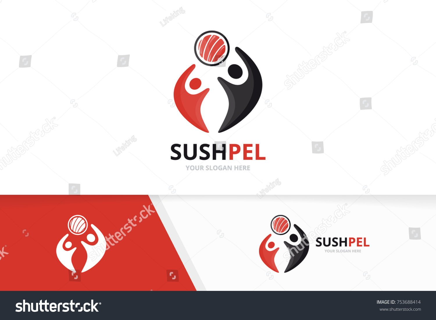 Vector sushi people logo combination japanese stock vector vector sushi and people logo combination japanese food and family symbol or icon unique biocorpaavc Gallery