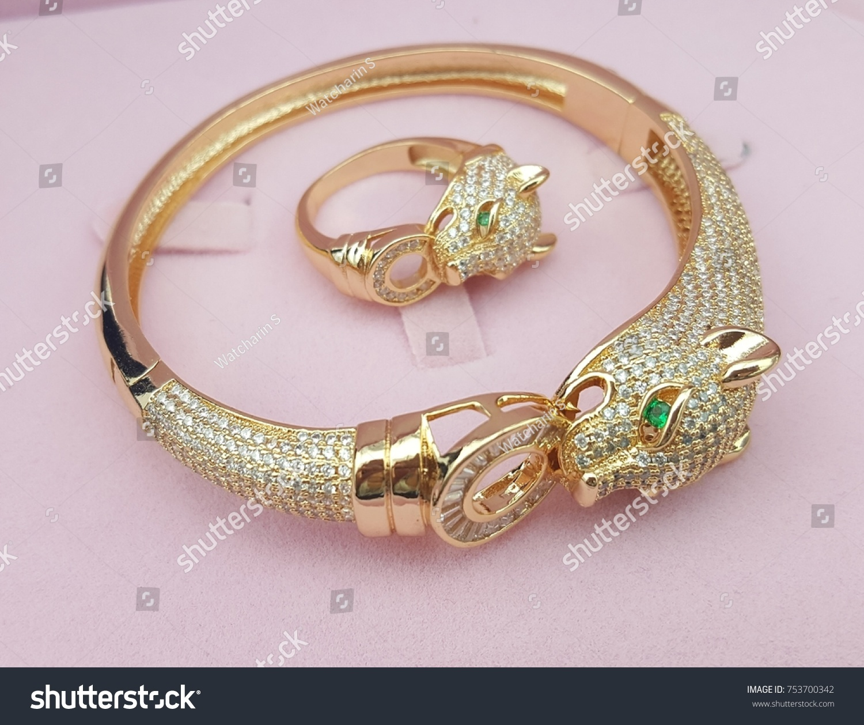 Lion Bracelet Ring Beautiful Design Jewelry Stock Photo 753700342 ...