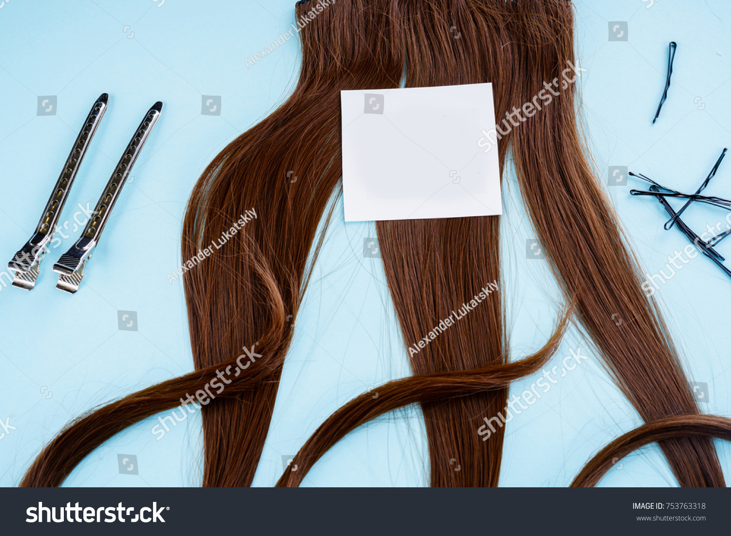 Hairdresser Accessories Coloring Hair Stock Photo 753763318 ...