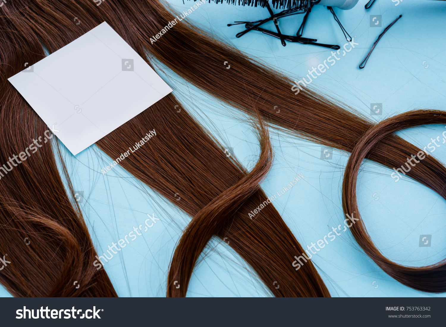 Hairdresser Accessories Coloring Hair Stock Photo 753763342 ...