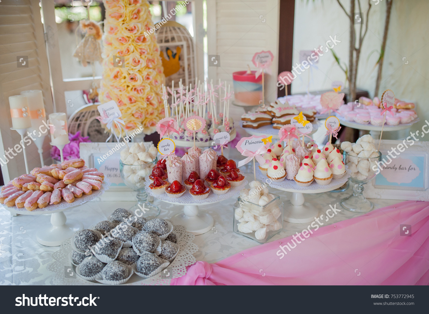 Buffet Of Sweets At The Wedding Table Ez Canvas