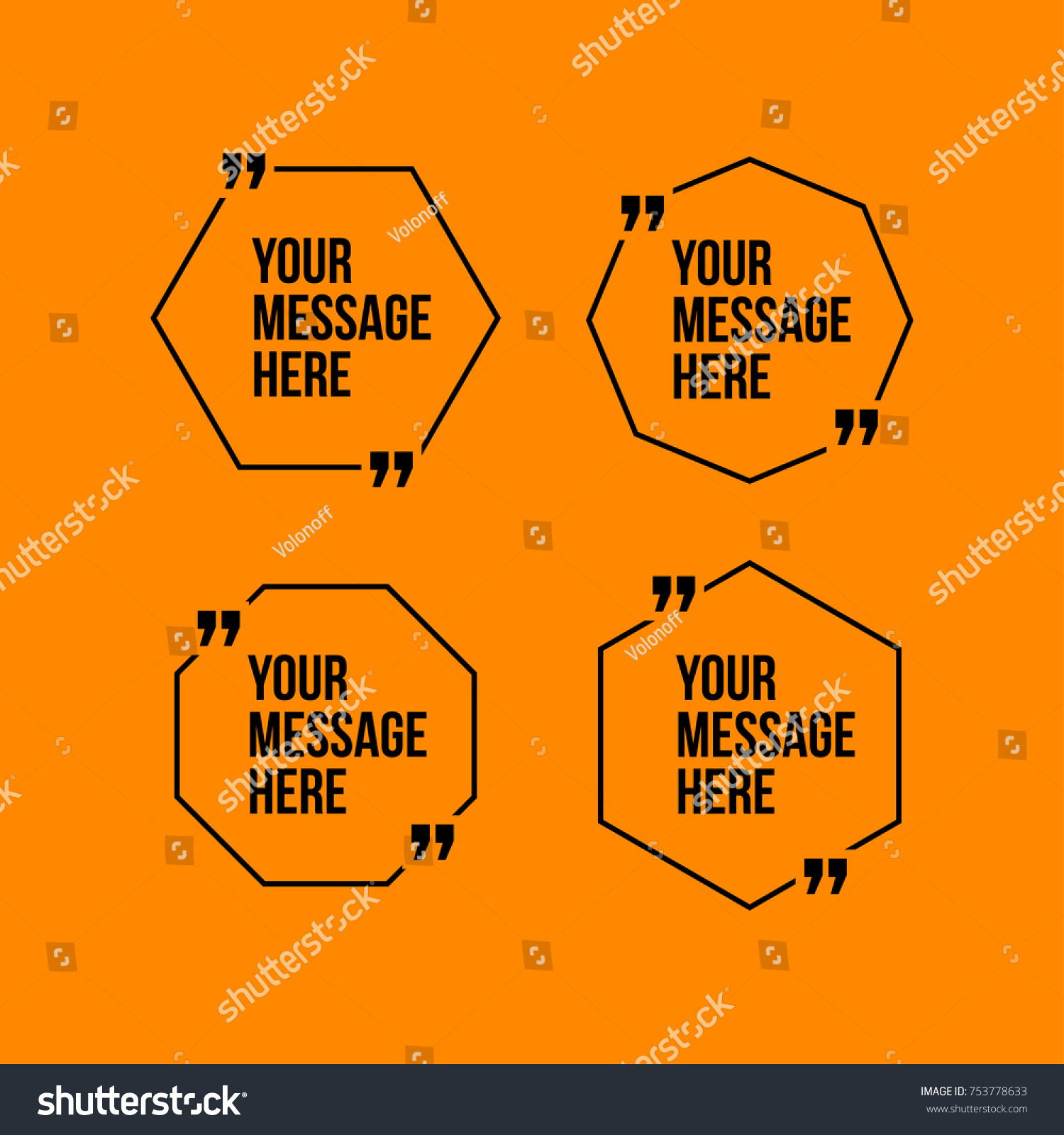 Innovative Vector Quotation Template Quotes Against Stock Vector