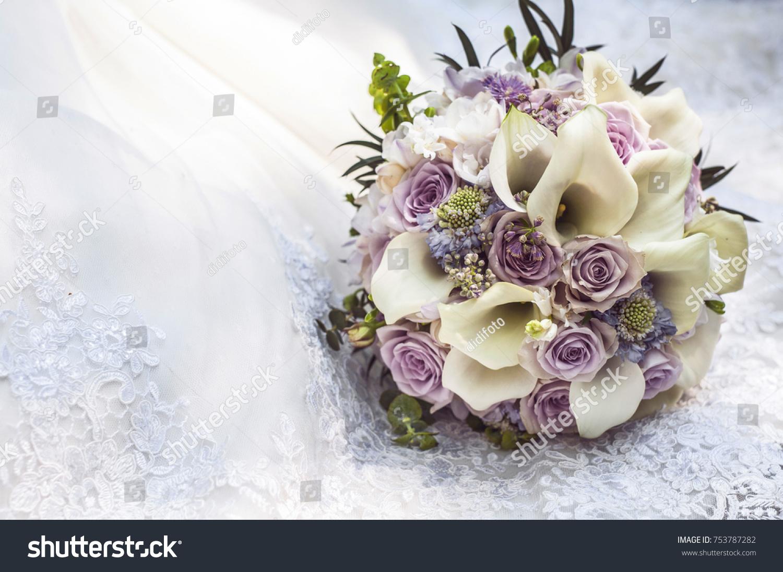 Nice Wedding Bridal Bouquet Pink Purple Stock Photo Edit Now