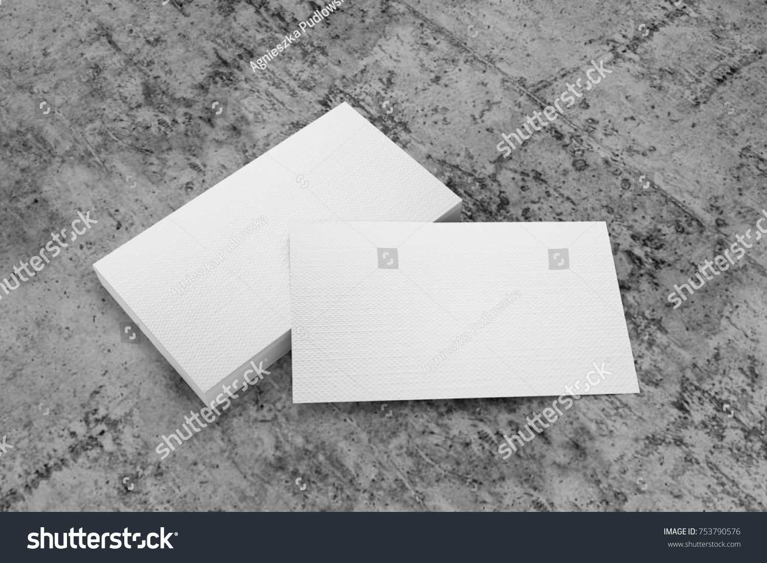 Business Card 3d On Concrete Background Stock Illustration ...