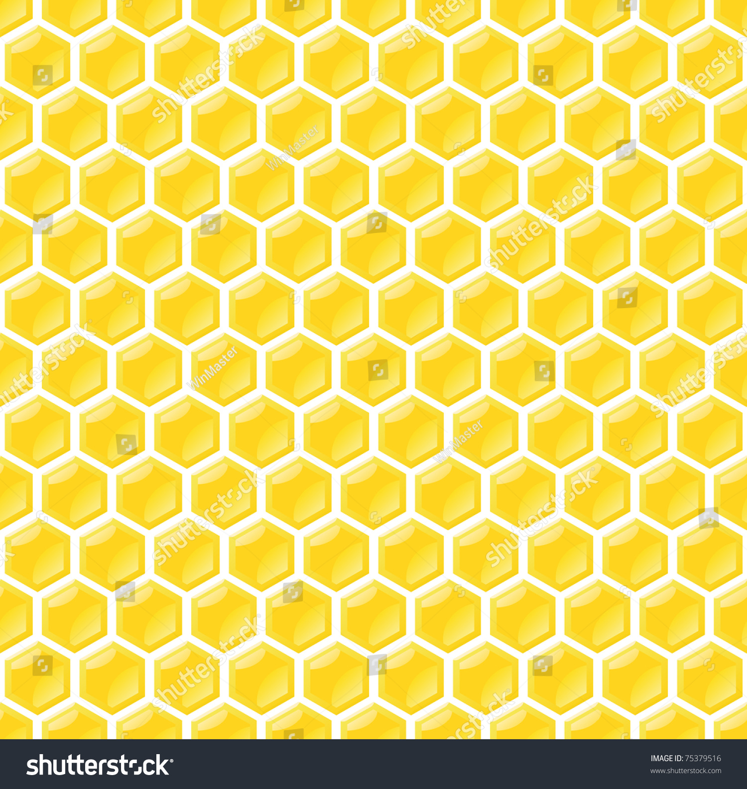 Seamless Honeycomb Pattern Stock Vector Illustration ...