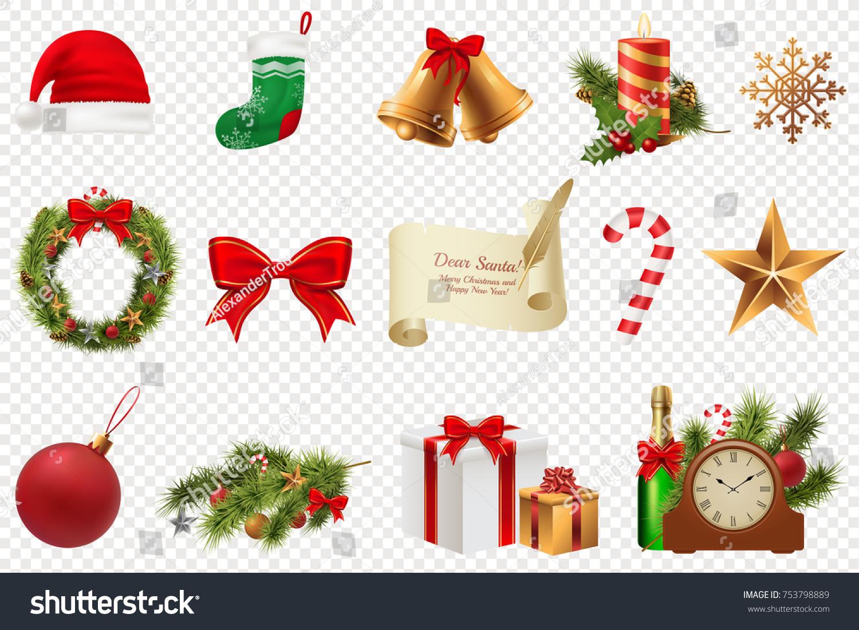 Christmas symbols big set colorful christmas stock vector christmas symbols big set colorful christmas icons isolated on white transparent background traditional xmas biocorpaavc