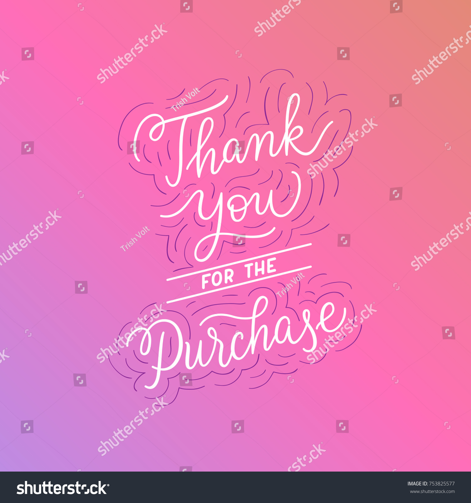 Thank you purchase perfect customer service stock vector 753825577 thank you for the purchase perfect for customer service after purchase email sticker kristyandbryce Choice Image