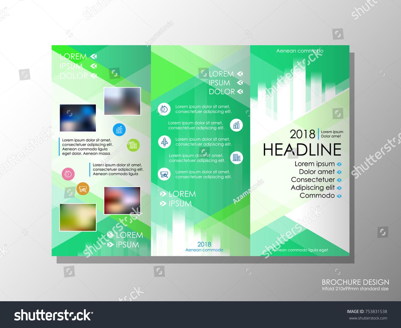 brochure design template business broadsheet concept stock vector