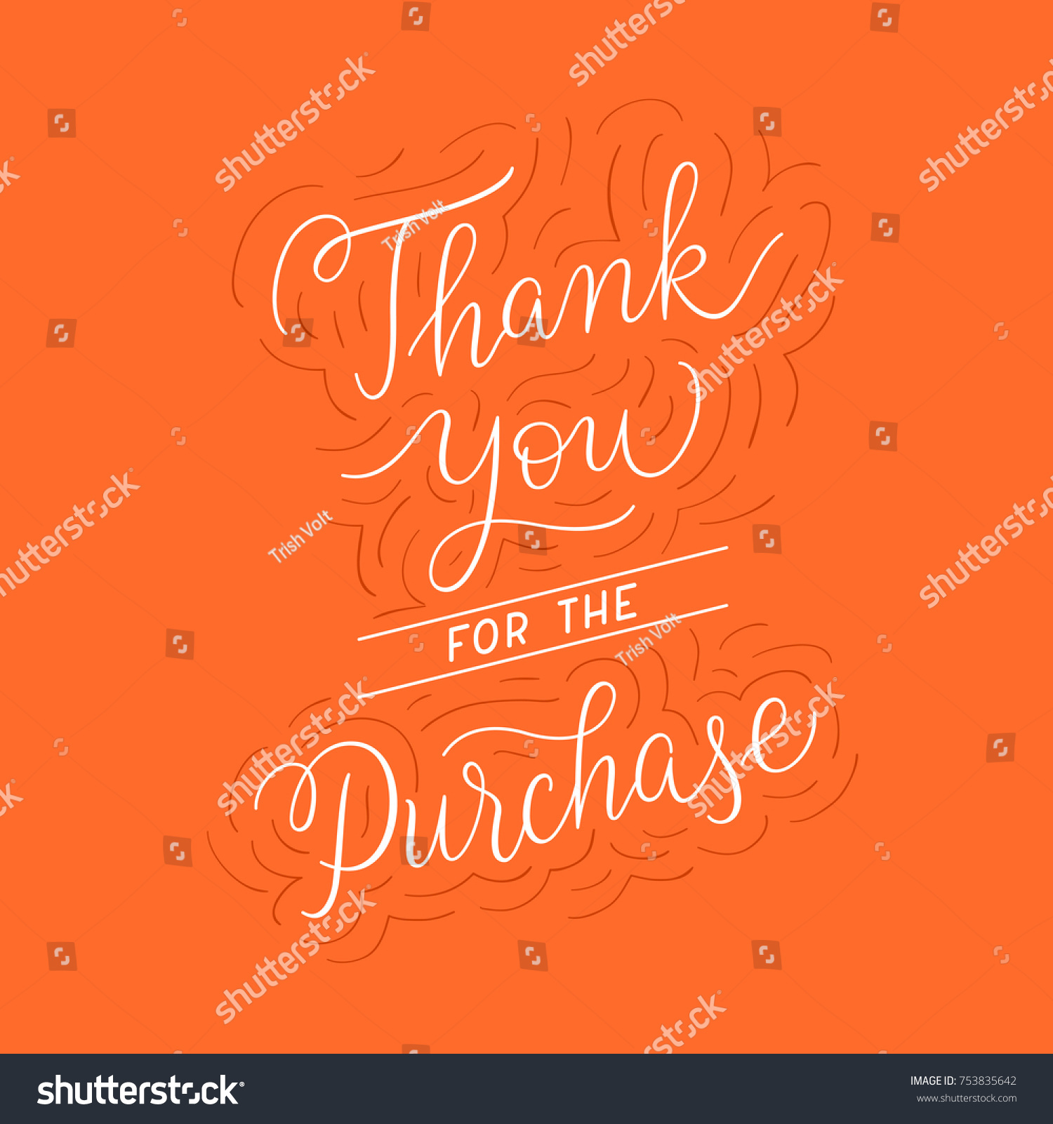 Thank you purchase sign customer service stock vector 753835642 thank you for the purchase sign customer service note after the order sale promo kristyandbryce Choice Image