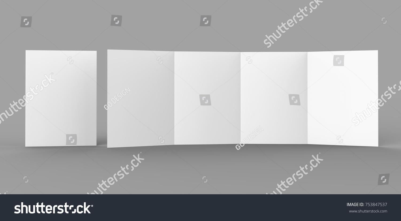Double Gate Fold Brochure Blank White Stock Illustration - Double gate fold brochure template