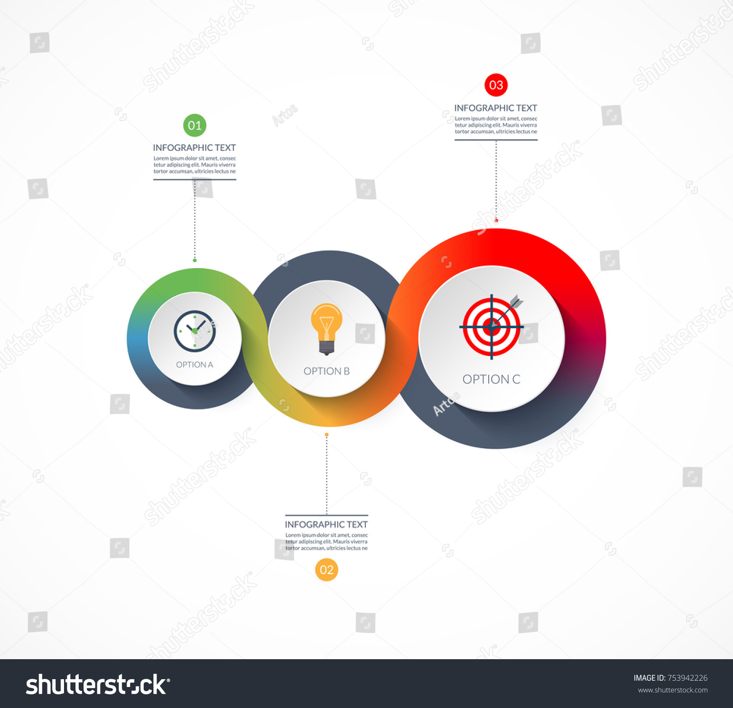 Timeline infographics business growth concept vector stock vector timeline infographics business growth concept vector banner with 3 options can be used nvjuhfo Gallery