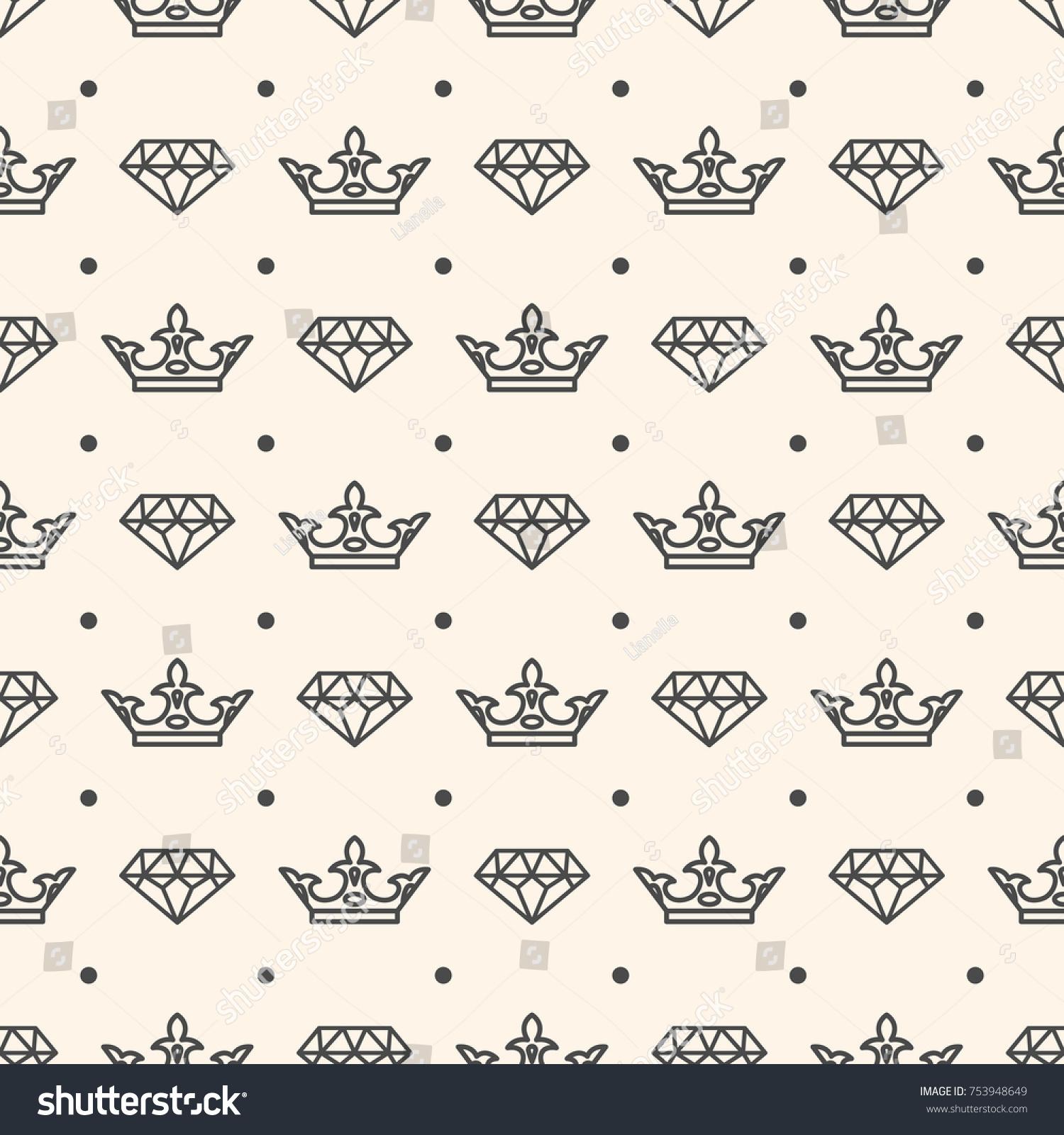 Seamless pattern crown diamond symbols wedding stock illustration seamless pattern with crown and diamond symbols for wedding card or invitation decoration elegant fashion biocorpaavc Choice Image