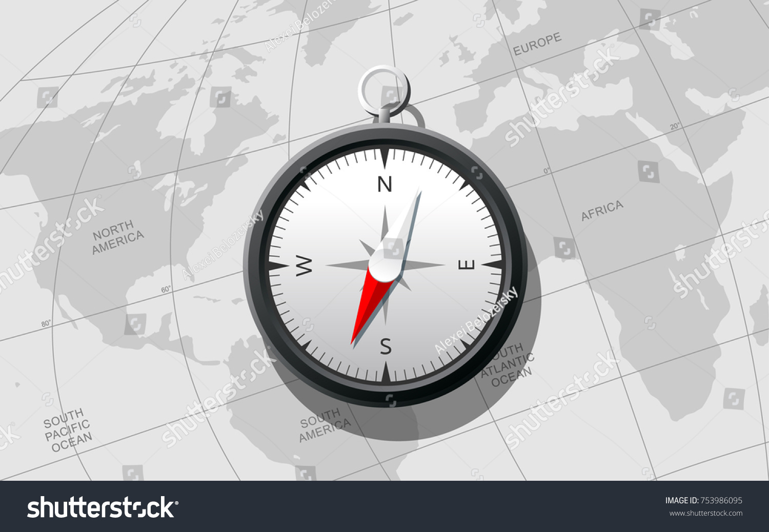 compass on the world map can be used in the themes of adventures geography