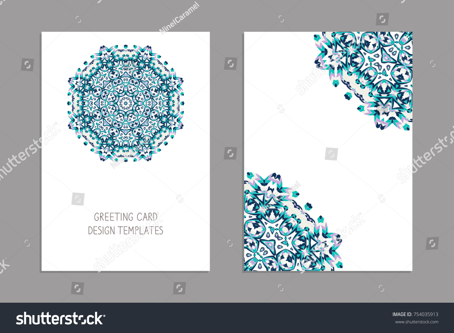 Templates Greeting Business Cards Brochures Christmas Stock Vector