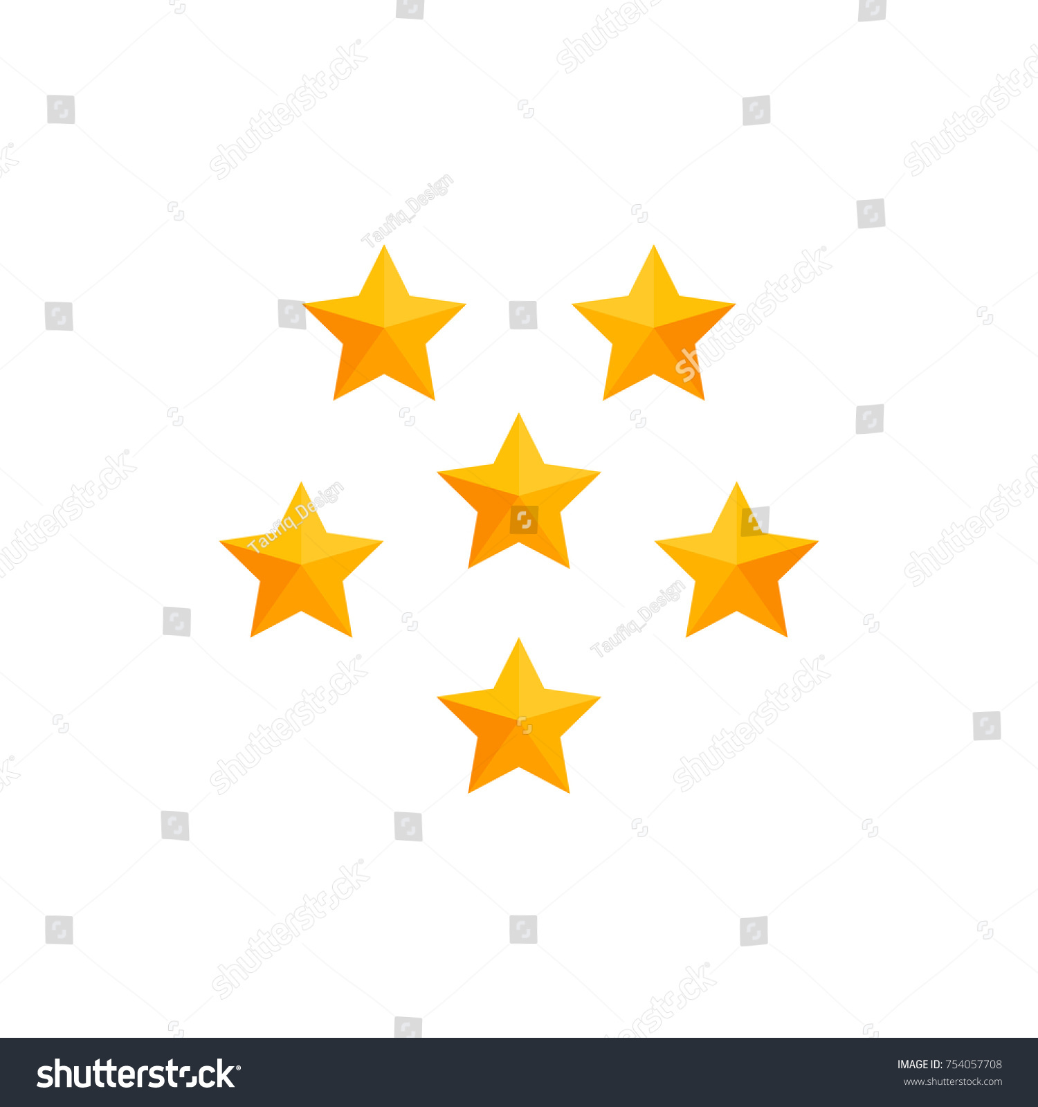 Simple Business Icon 5 Stars Symbol Stock Vector Royalty Free